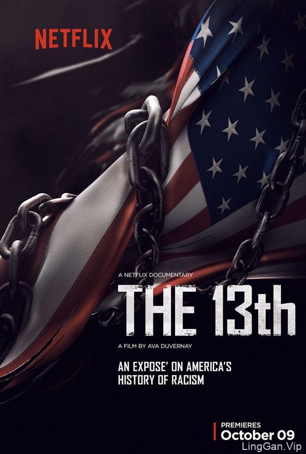 """美国Netflix """"THE 13TH""""系列海报设计作品"""