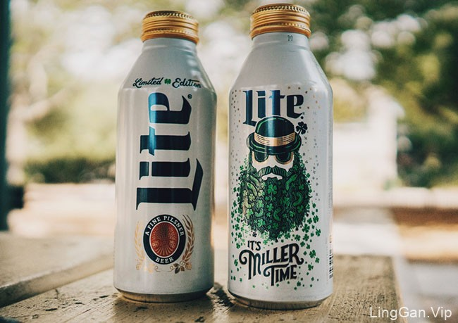 国外Miller Lite啤酒圣帕特里克节限量版包装设计