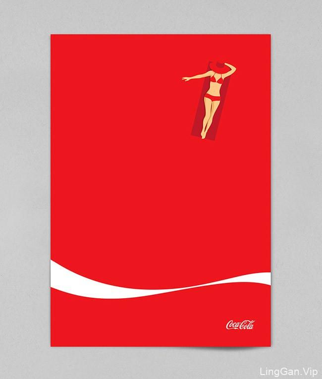 国外可口可乐夏季主题创意海报设计