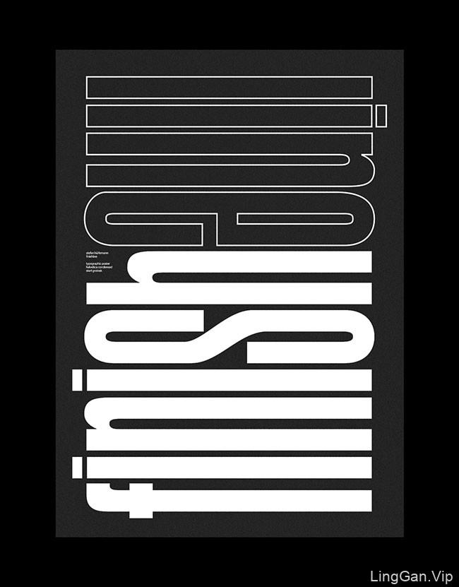 瑞士Stefan黑白排版艺术海报设计作品15P
