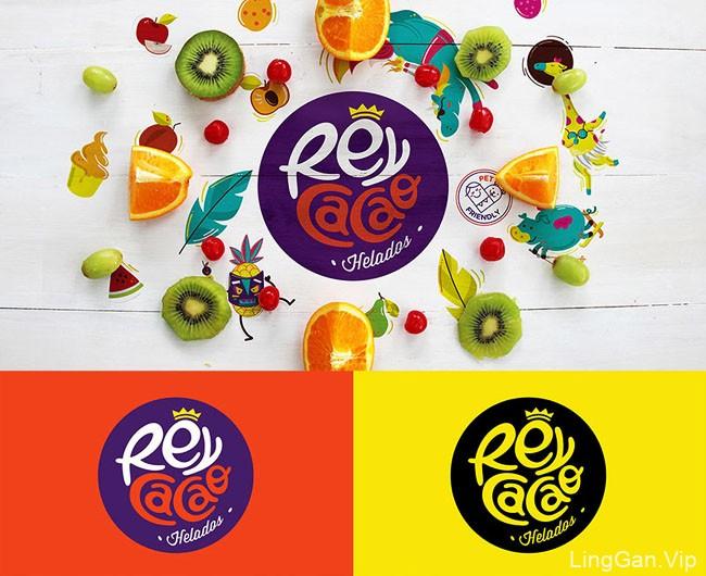 国外活泼多彩的REY CACAQ冰淇淋品牌形象设计作品