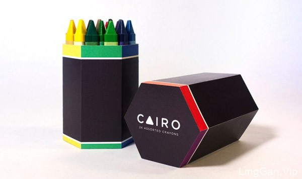 国外Cairo彩色蜡笔创意包装设计作品