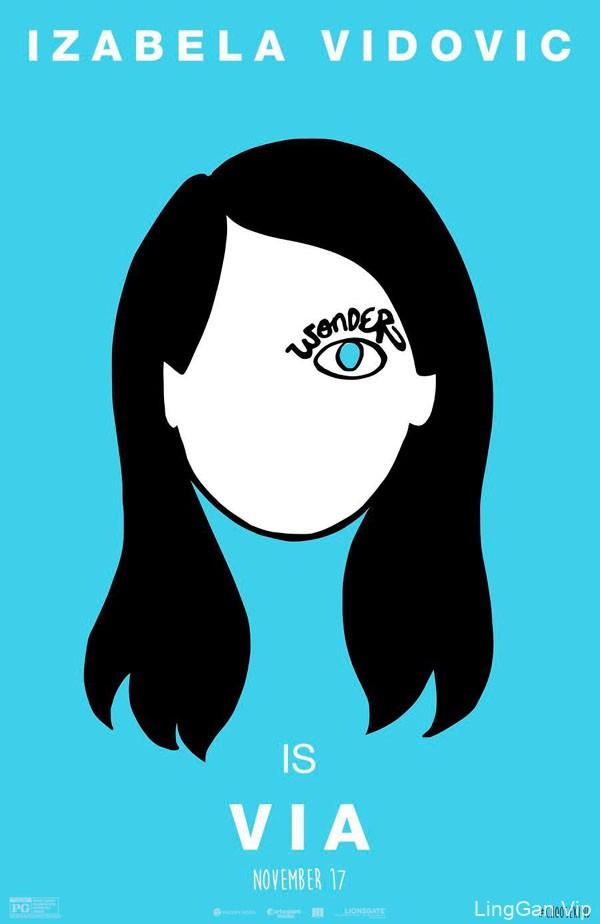 国外电影《奇迹 Wonder》概念漫画海报设计作品