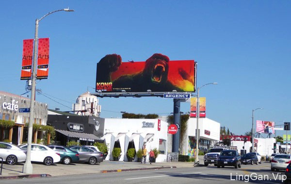 美国Stanley Sun电影《金刚:骷髅岛》户外宣传海报