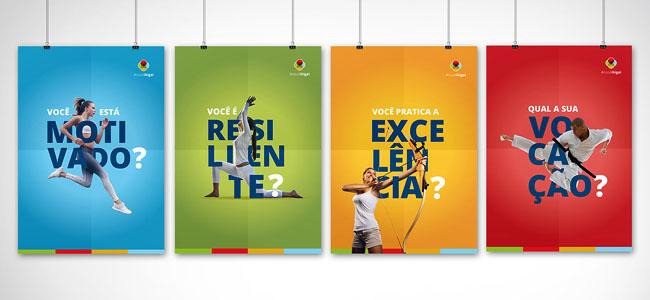巴西设计师Jade Nadaf运动主题简约海报设计