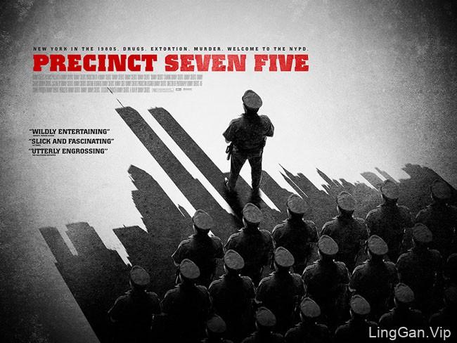 《75区警局》记录片宣传视觉海报设计