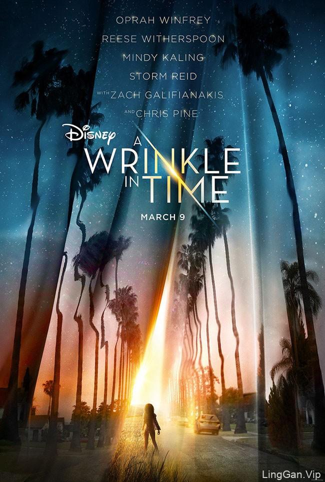 奇幻冒险电影《时间的皱折》系列宣传海报作品