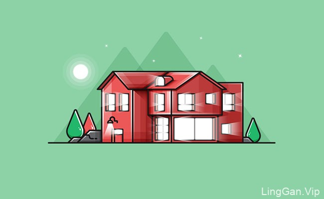 Furkan Soyler现代建筑插图图标设计