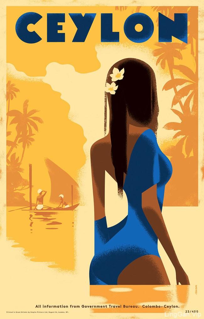 国外Ceylon旅游主题插图海报设计作品