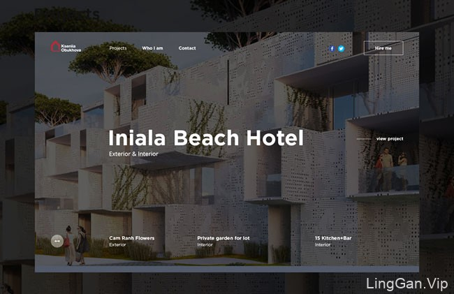 国外建筑师个人网页设计作品