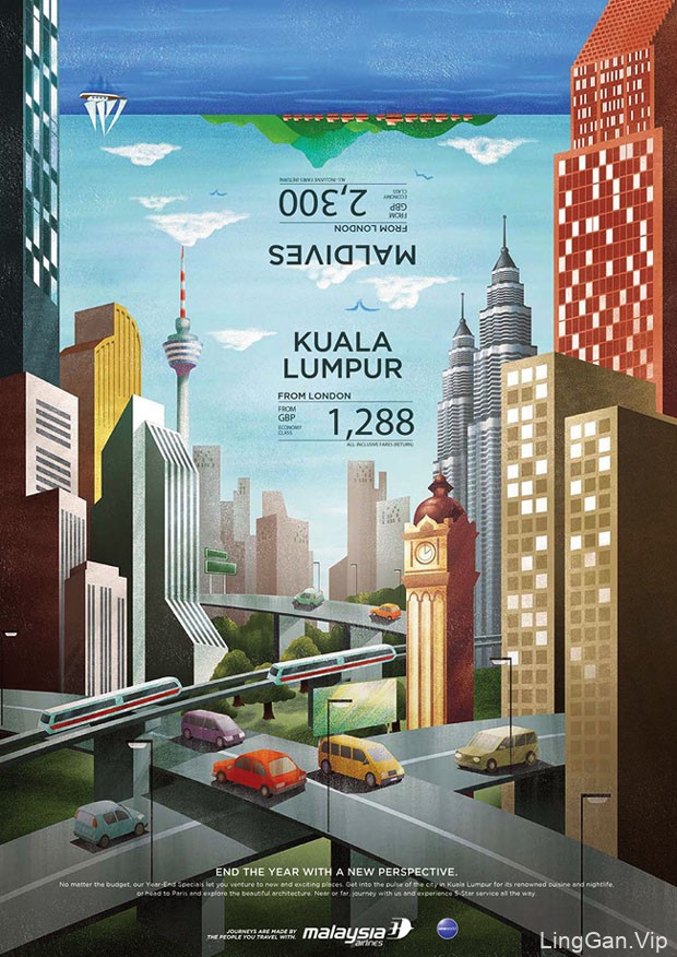 马来西亚航空公司年底销售宣传海报作品
