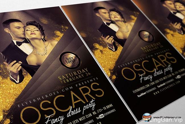 Oscars化装舞会系列时尚海报设计作品