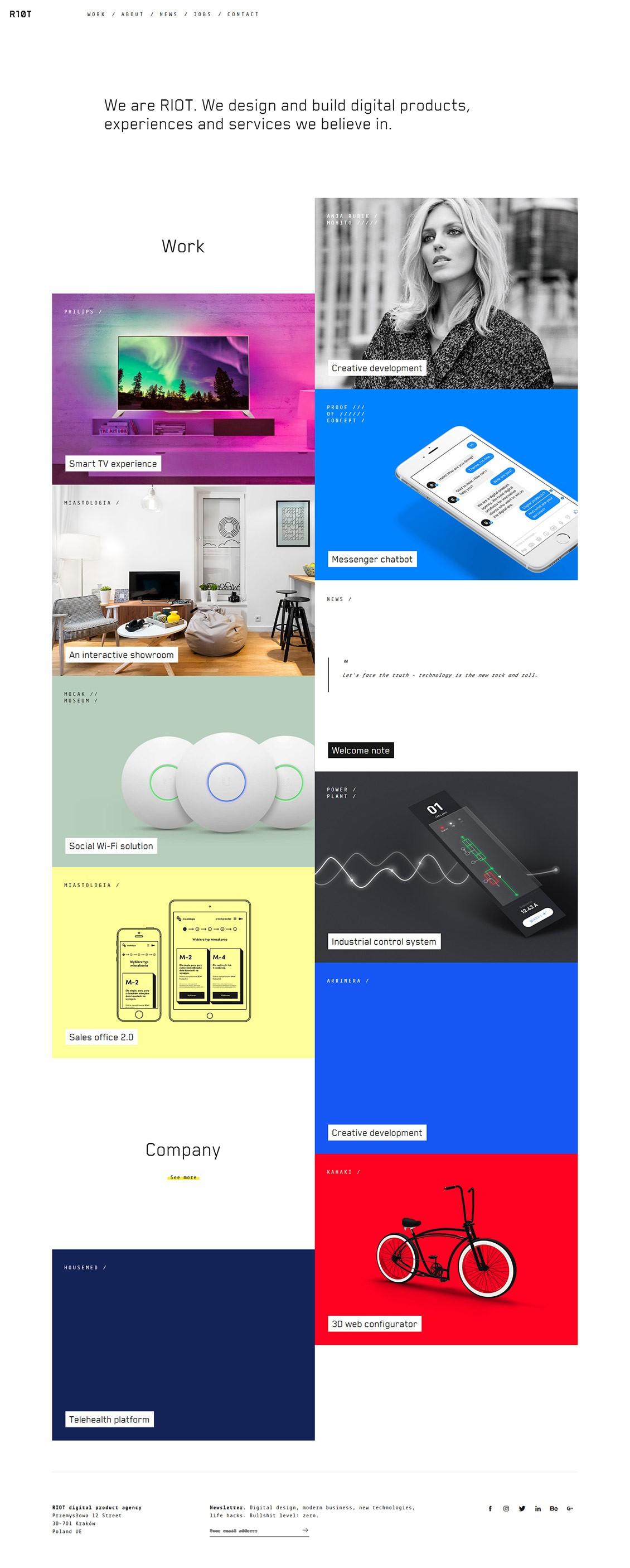 RIOT数字设计公司网站界面设计