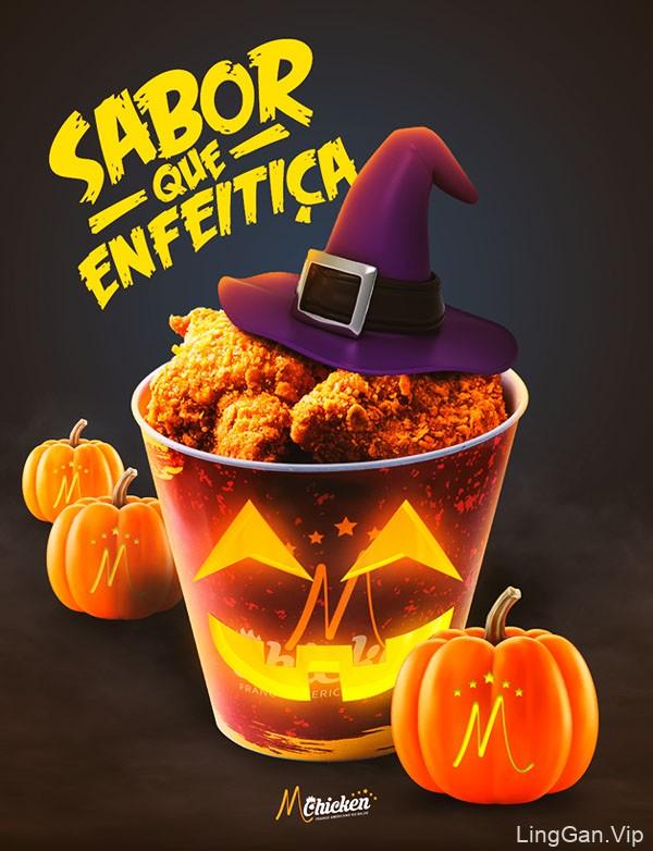 MCHICKEN炸鸡店节日与活动海报设计