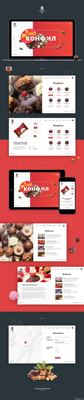 糖果网站界面设计模板