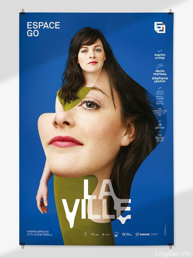 Espace GO女性剧场品牌创意海报设计