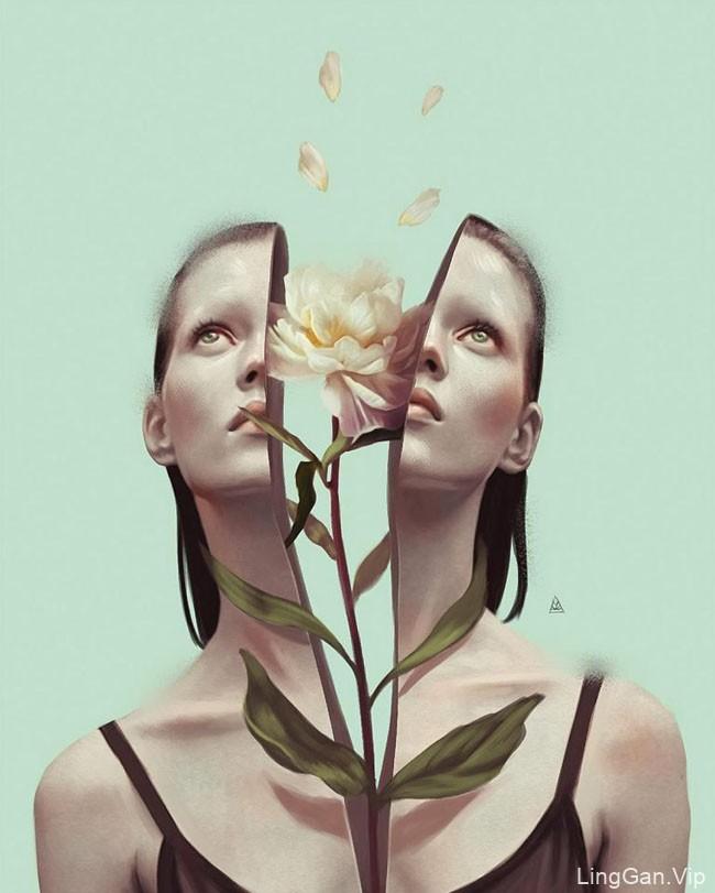 国外设计师Aykut Aydogdu概念创意人物插画设计