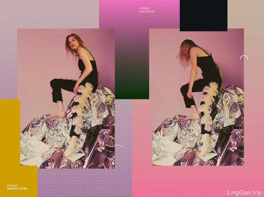 国外女装服饰海报排版设计作品