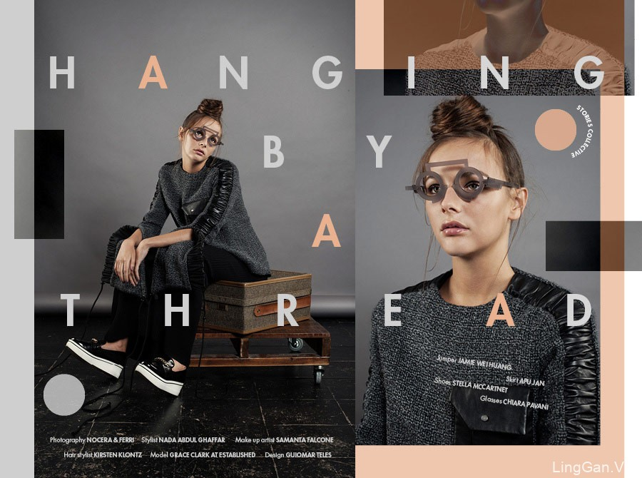 国外女装服饰优秀海报排版设计