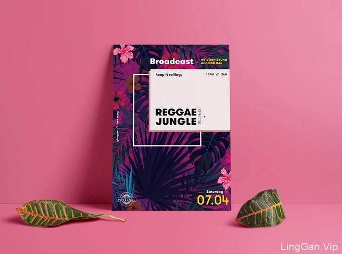 REGGAE JUNGLE摇滚乐队活动海报设计