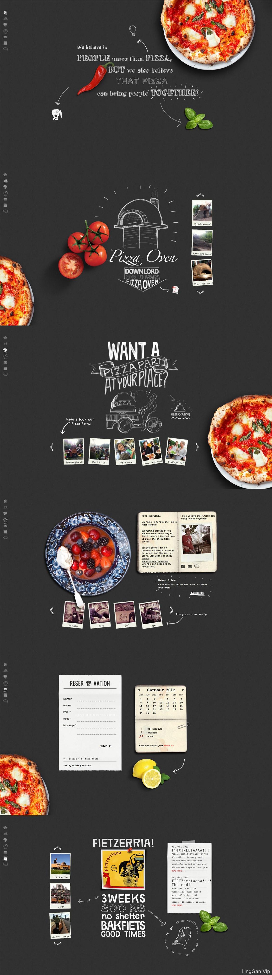 pizza网站设计-美食网站