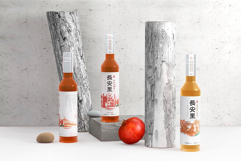 厚启设计 石榴酒与糜子黄酒礼盒包装设计 酒包装