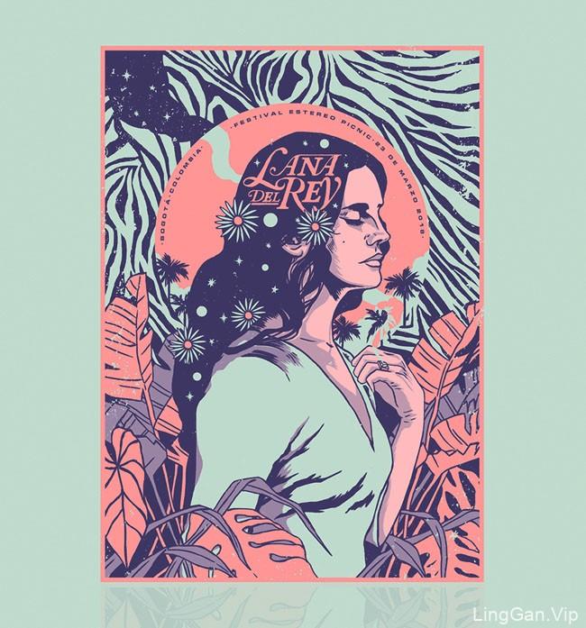 拉娜·德雷演出海报设计
