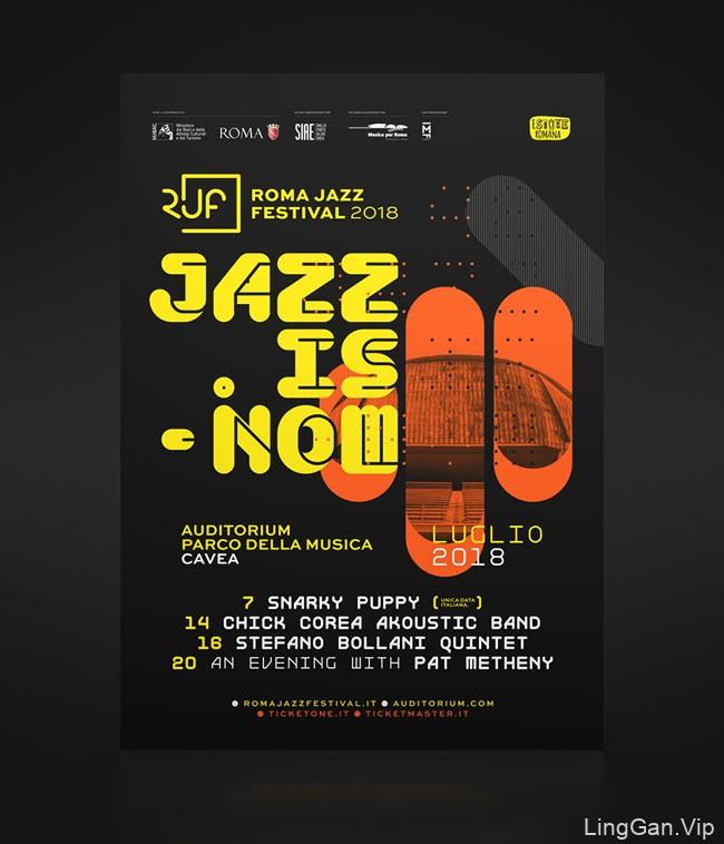 2018罗马爵士音乐节宣传海报设计