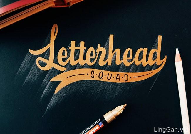 俄罗斯Mike Levchenko手绘字体设计