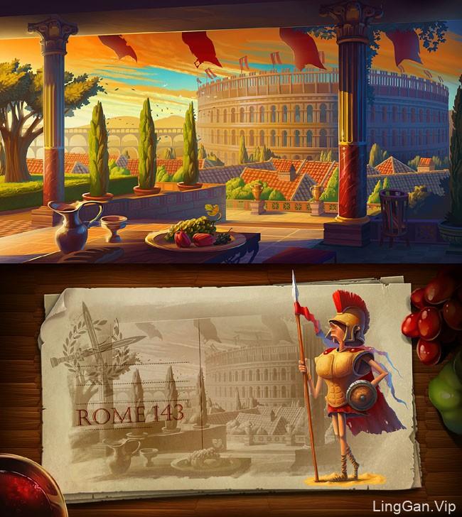 英国Inkration Studio探险主题风景插画作品
