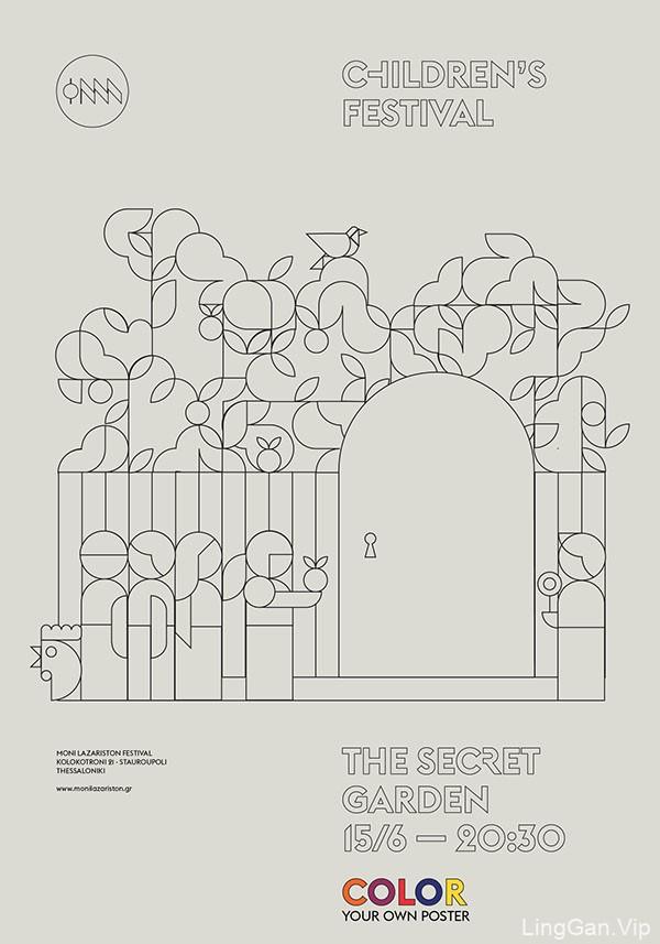 希腊儿童节海报设计