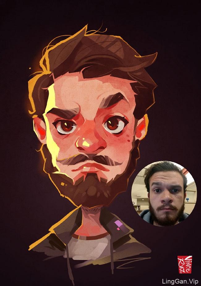 新加坡Vince Ruz人物Q版插画设计