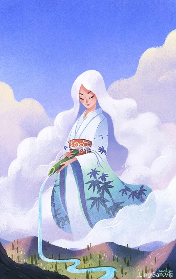 美国Bao Luu十二星座书籍人物插画设计