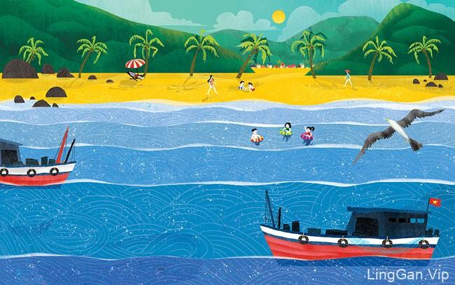 越南pqt工作室教科书插画设计