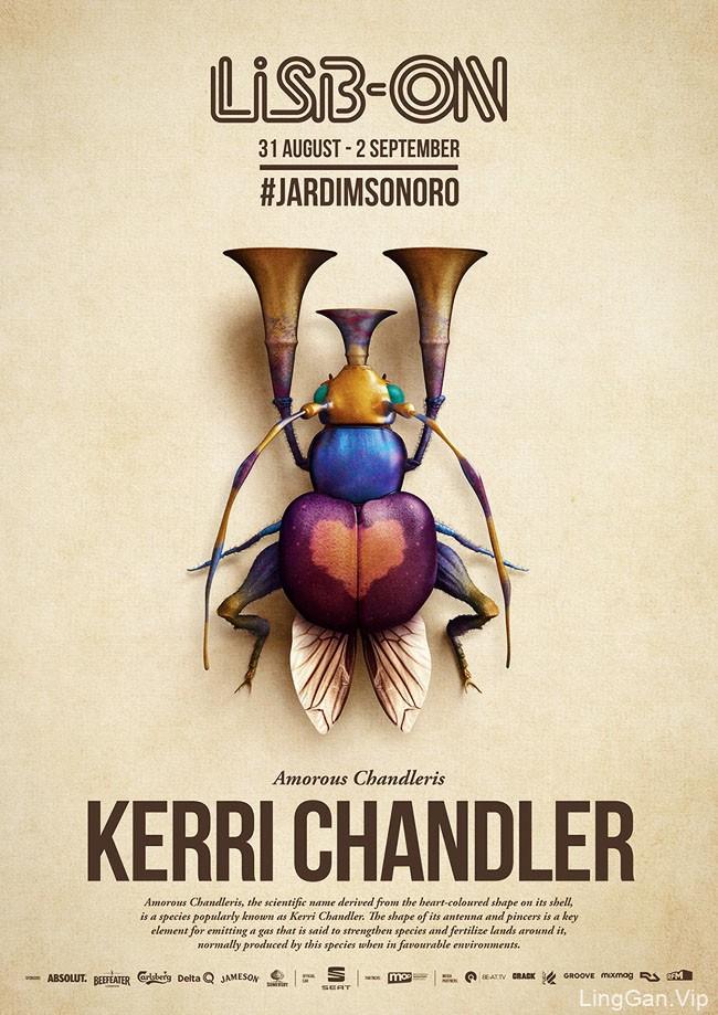 葡萄牙LISB-ON音乐节系列创意海报