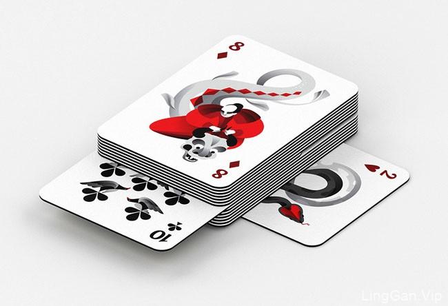 俄罗斯Maria Fedoseeva扑克牌插图设计