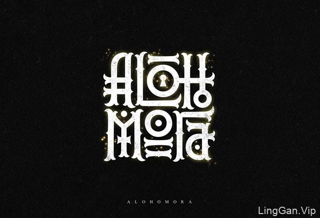 哈利波特魔法主题字体设计