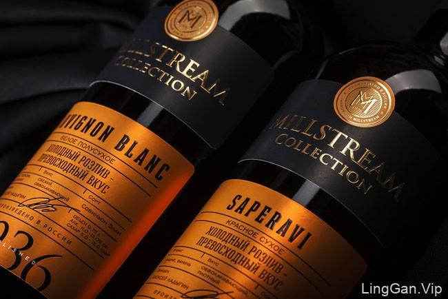 Premium葡萄酒瓶贴设计