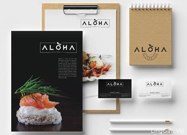 Aloha健康美食餐厅品牌形象设计