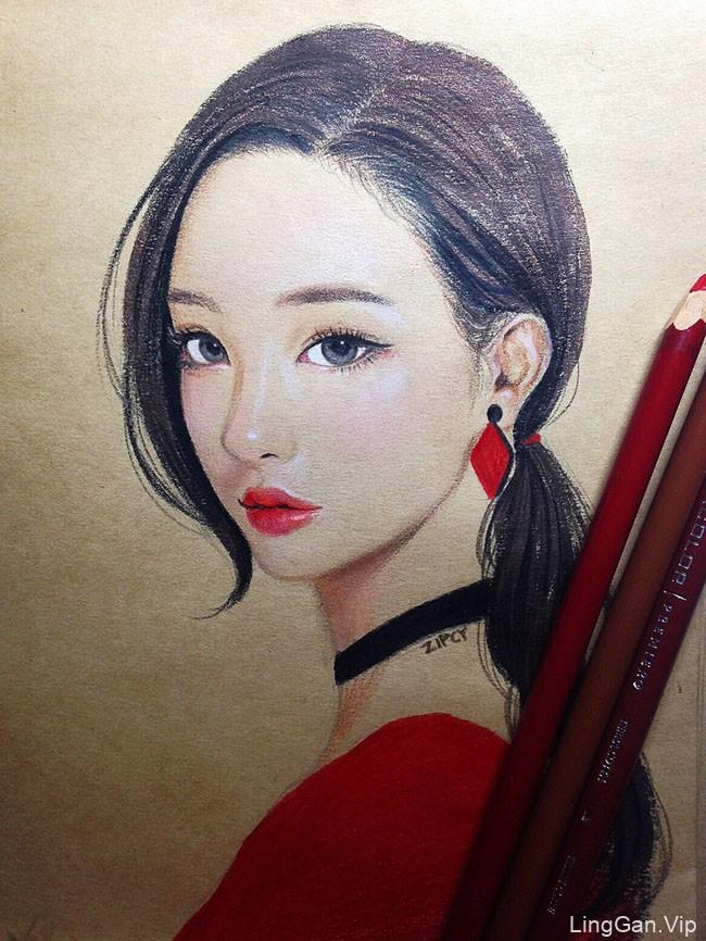 韩国Zipcy美女人物插画设计作品