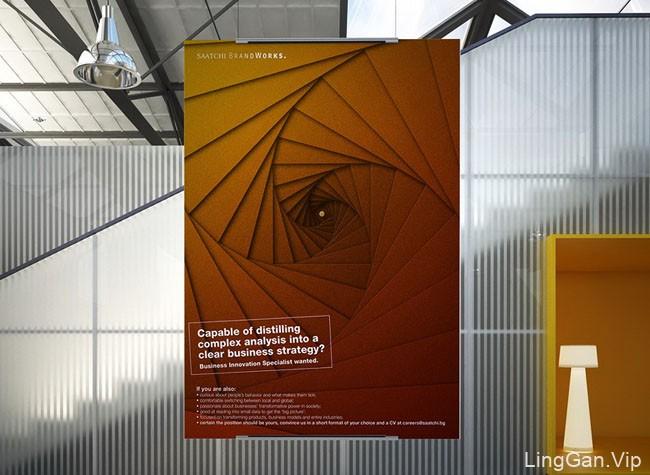 SAATCHI系列几何视觉海报设计欣赏