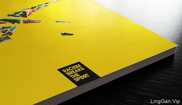 知名运动品牌反种族主义活动宣传海报设计