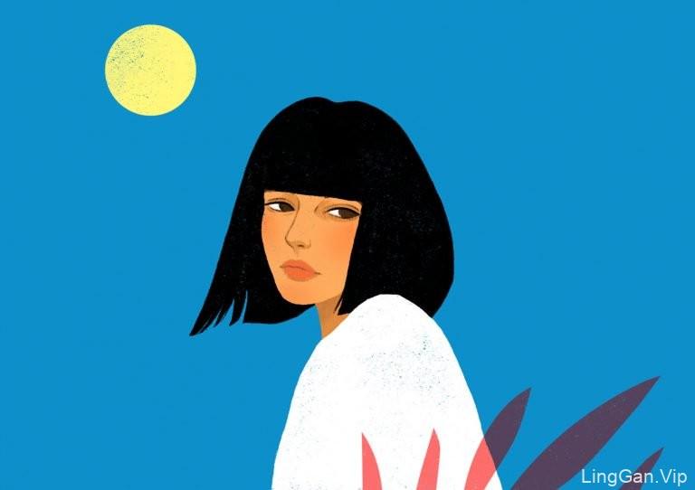 Suzanne Dias肖像插画作品