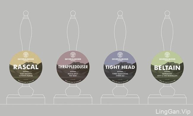 Inveralmond啤酒包装设计