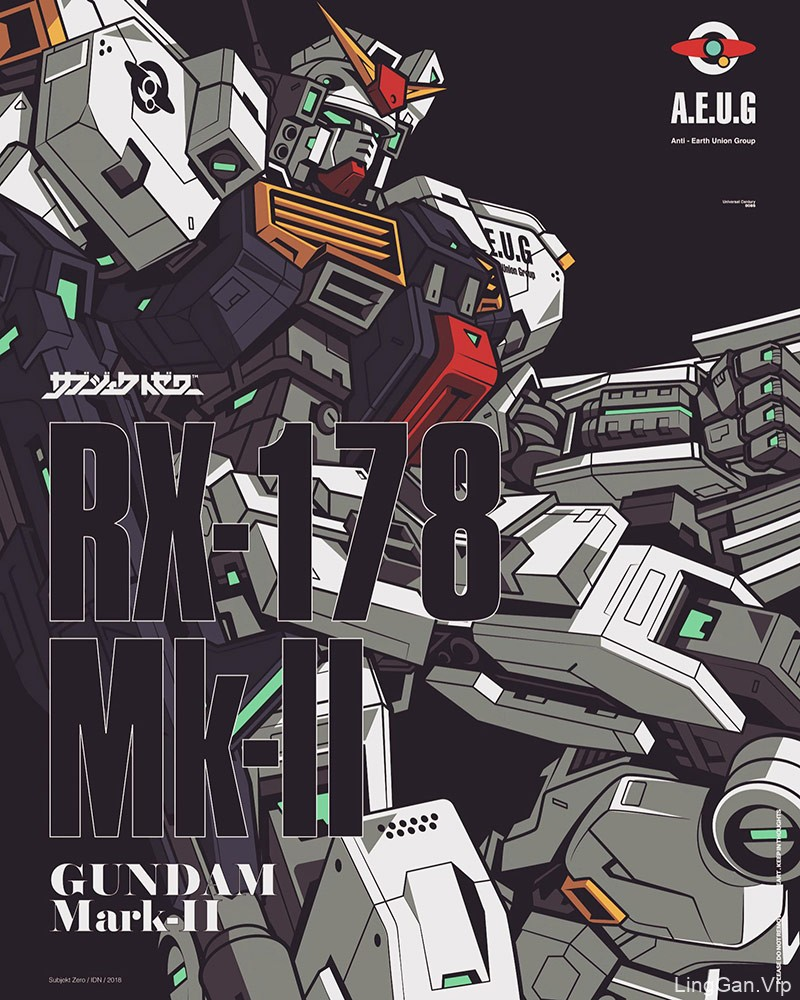 超级机器人!14款器械矢量插画海报欣赏