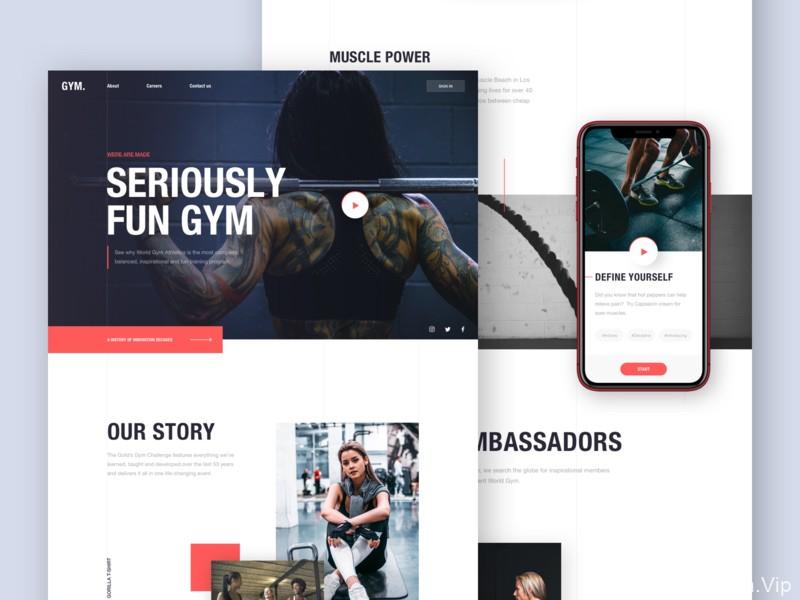 要你好看,也要我好看!12组健身网页设计灵感