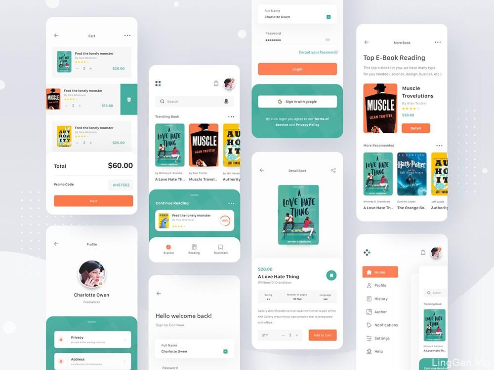 12组阅读类App界面设计灵感