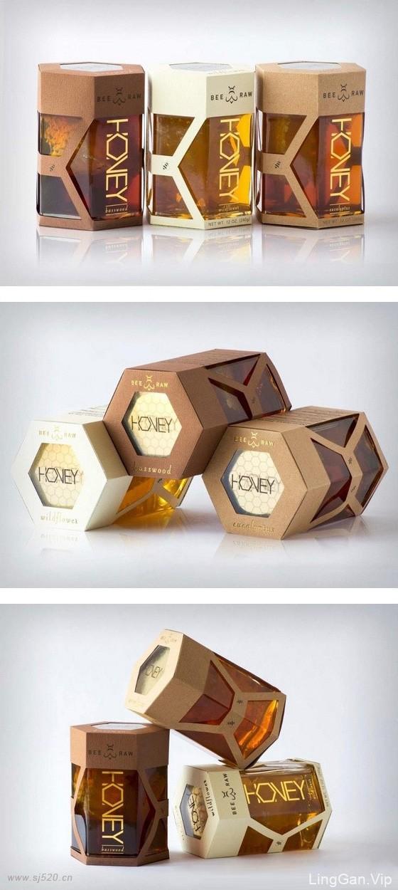 3种不同风格的HONEY产品包装设计,包装创意设计欣赏