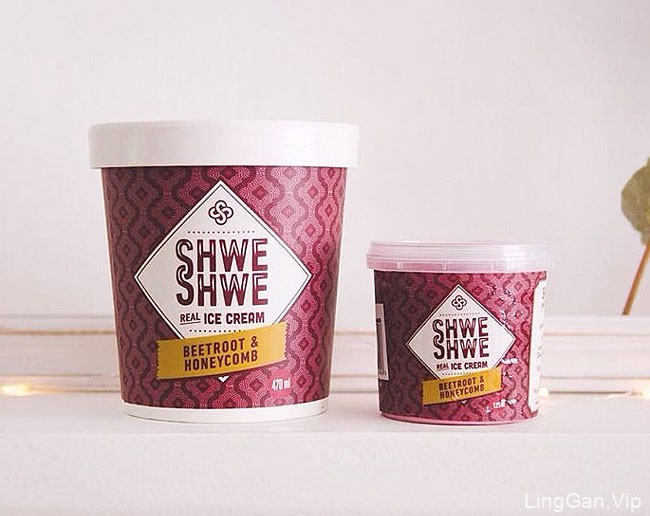 Shwe Shwe ICE CREAM冰激凌杯装8种包装设计