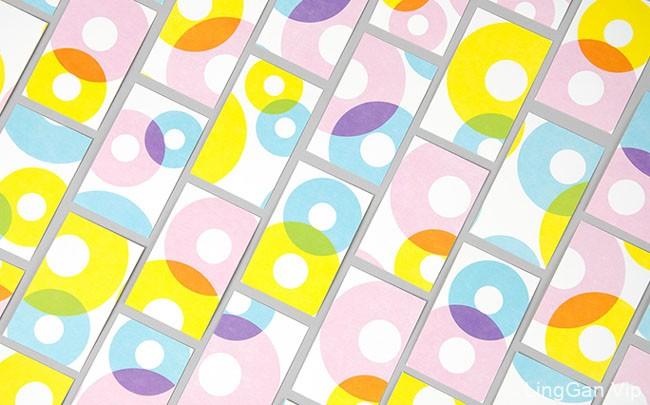 彩色的Dunkin Donuts甜甜圈包装设计鉴赏